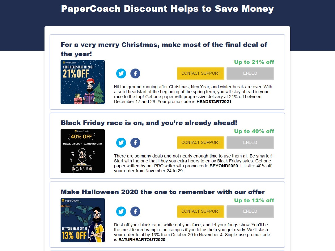 papercoach discounts