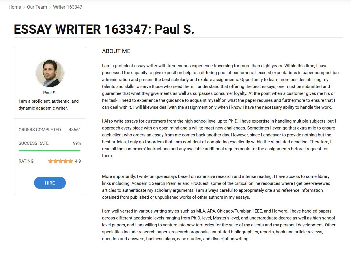 EssayPro writer